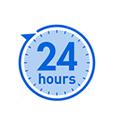 24時間連続使用可能